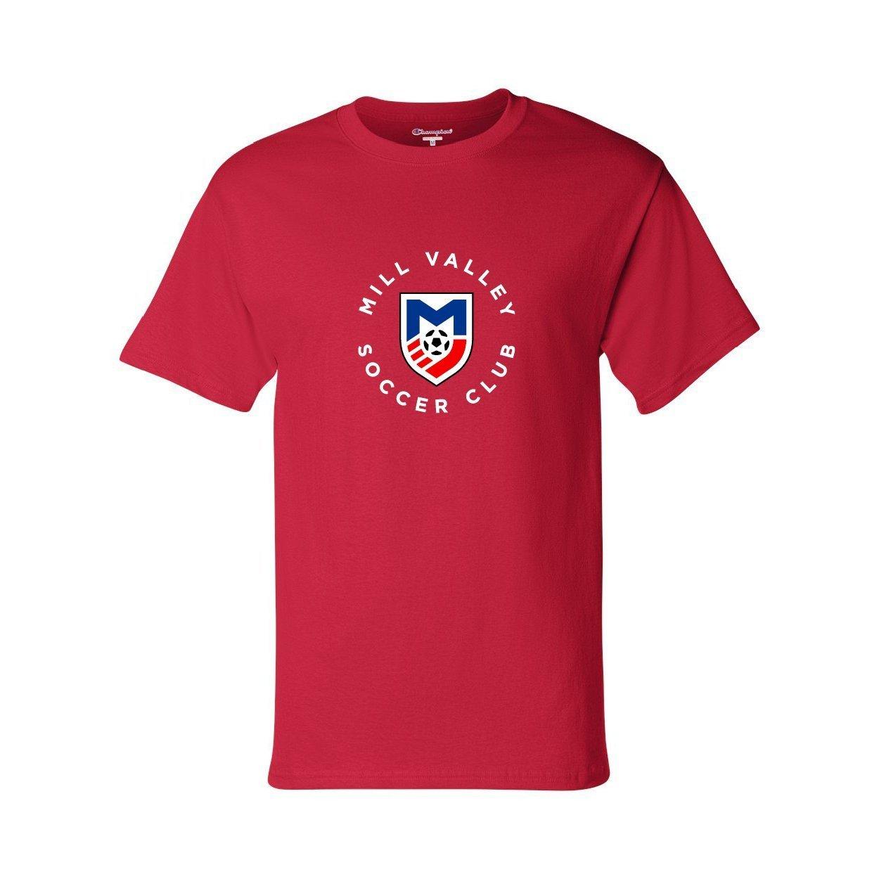 Blue Circlelogo: MVSC Unisex Champion T-Shirt
